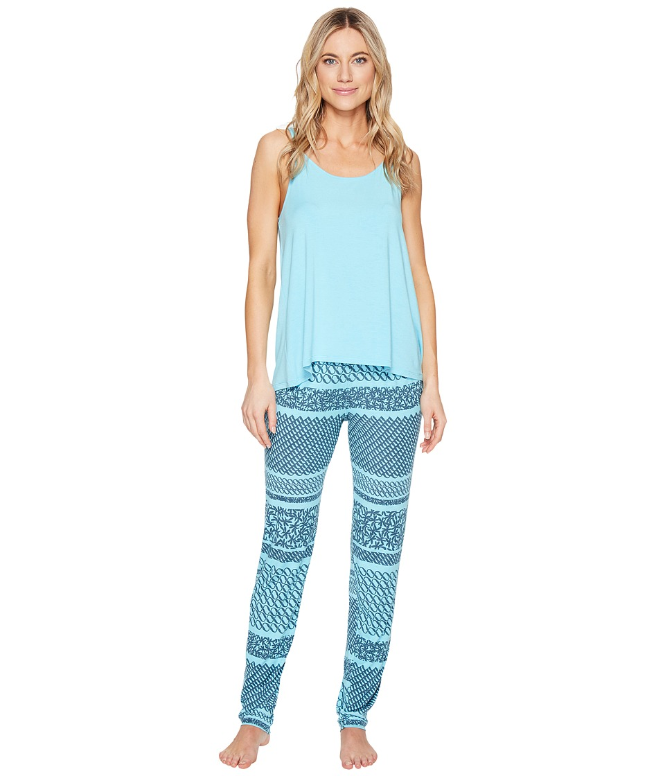 Josie - Mesmerized Tank PJ Set (Blue Glow) Women's Pajama Sets