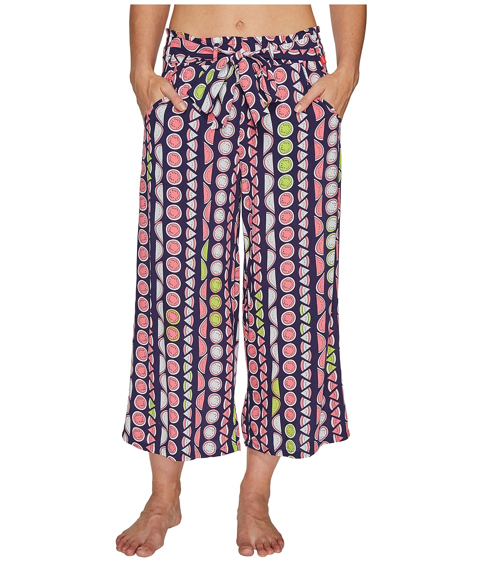 Josie Valley Mix Capri Pants (Navy Blue) Women