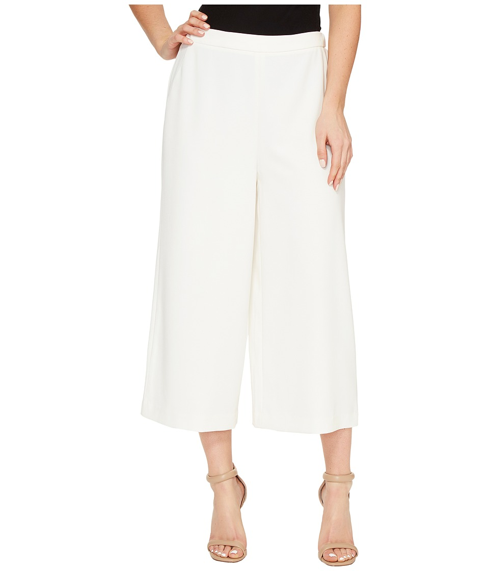 Ellen Tracy - Wide Leg Crop Pants (Cream) Women's Casual Pants