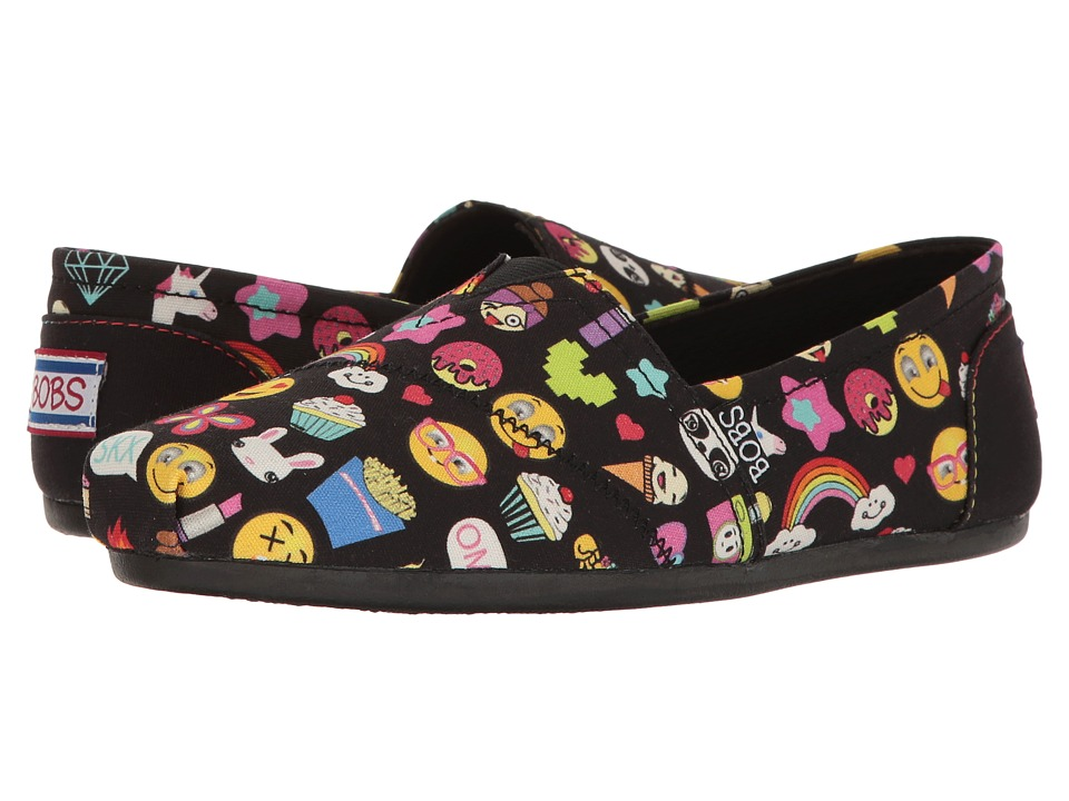 BOBS from SKECHERS Bobs Plush Short Hand (Black/Multi) Women