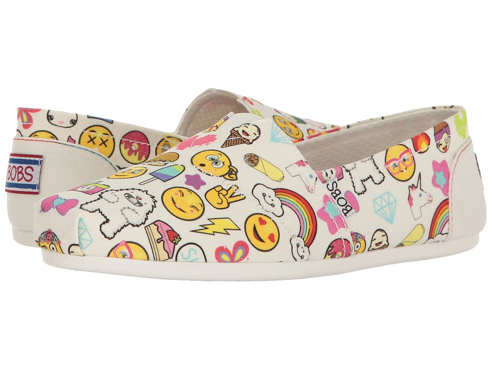 BOBS from SKECHERS Bobs Plush Short Hand (White/Multi) Women