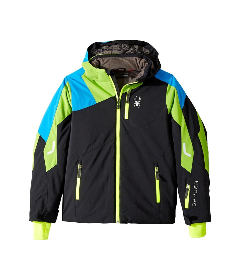 Spyder Kids - Avenger Jacket (Big Kids) (Black/Fresh/Fresh Blue) Boy's Jacket