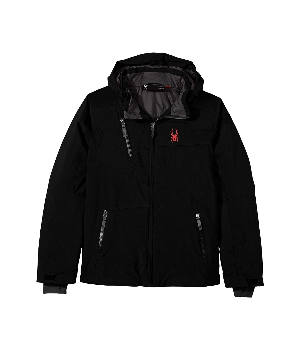Spyder Kids - Rival Jacket (Big Kids) (Black/Black/Black) Boy's Jacket