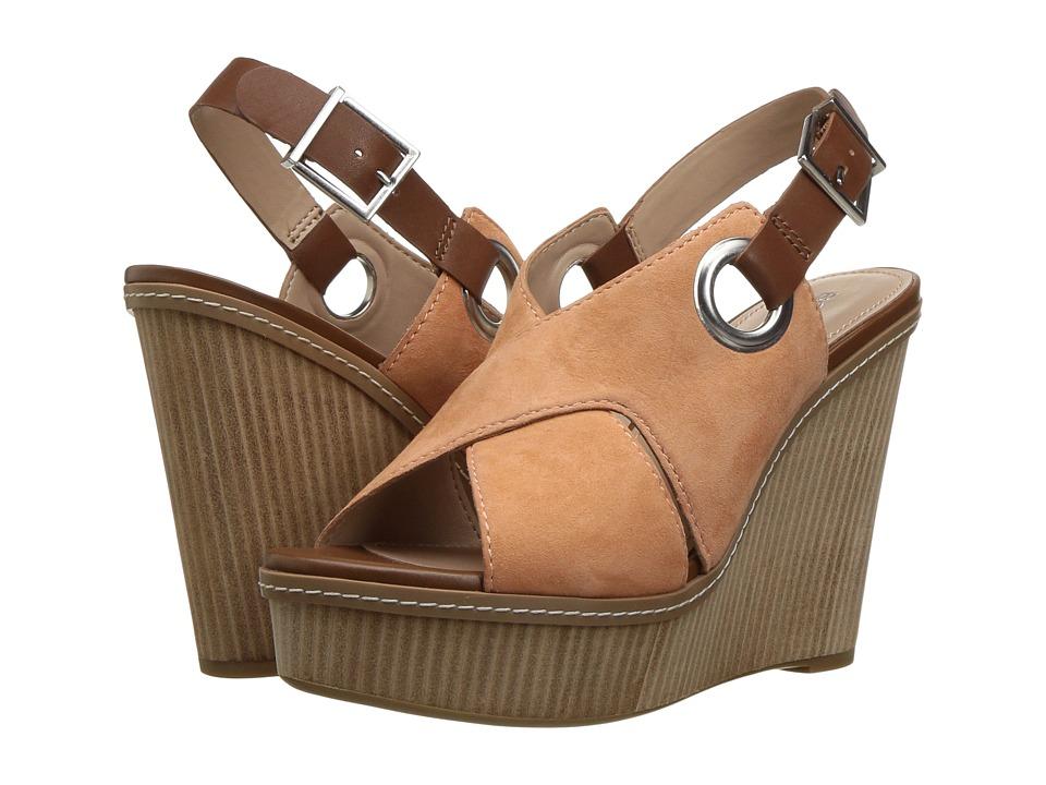 BCBGeneration - Penelope (Peach Kid Suede/Caramel Soft Semi Matte Calf) Women's Shoes