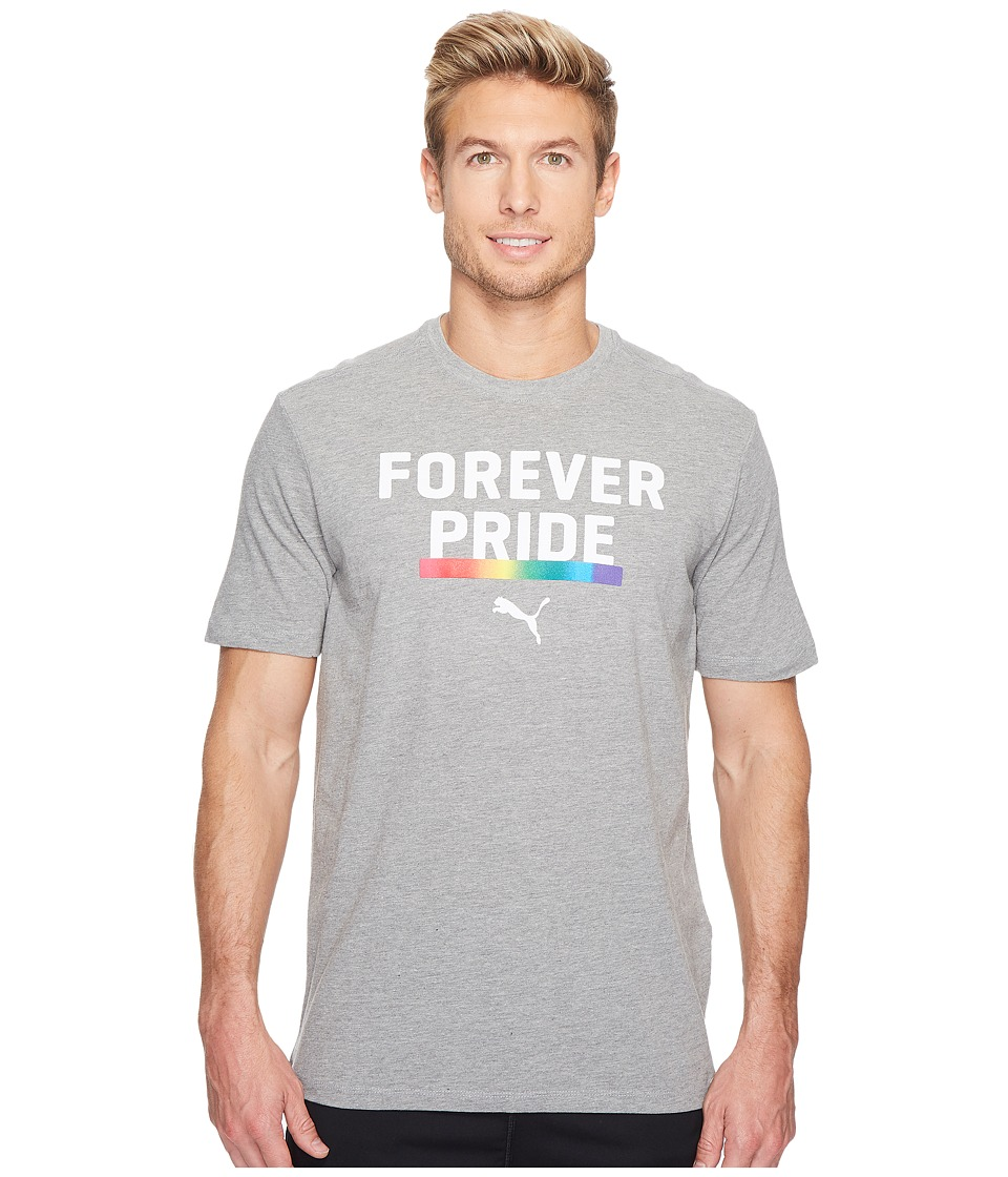 PUMA - Forever Pride Tee (Medium Grey Heather) Men's T Shirt