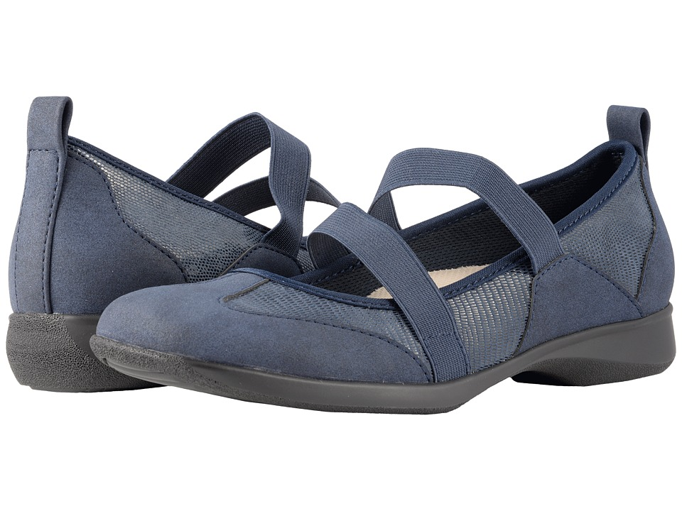 Trotters Josie (Dark Blue Lizard) Women