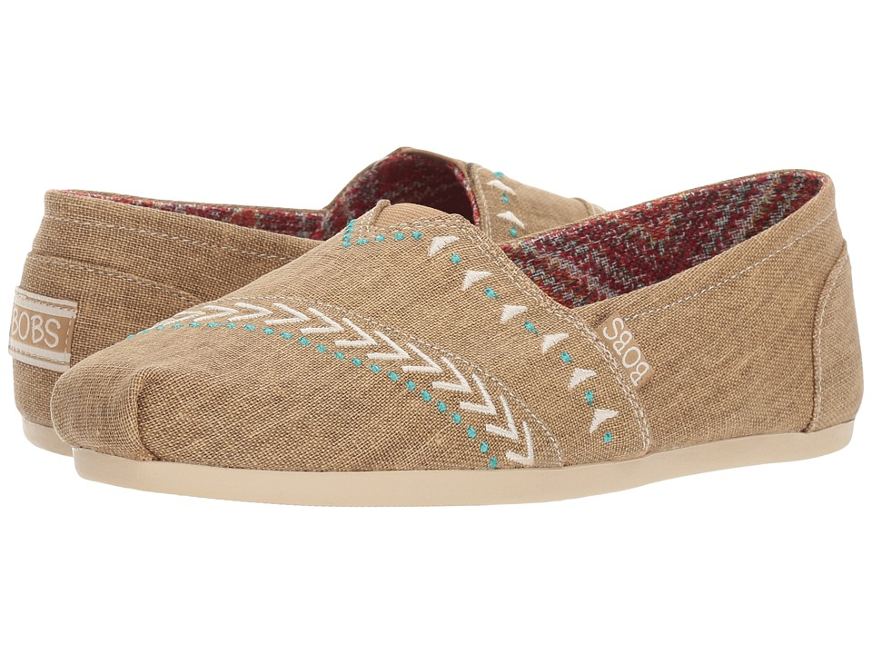 BOBS from SKECHERS Bobs Plush Feather (Tan) Women