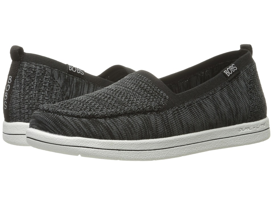BOBS from SKECHERS Bobs Super Plush Gritty Knitty (Black) Women's Flat Shoes