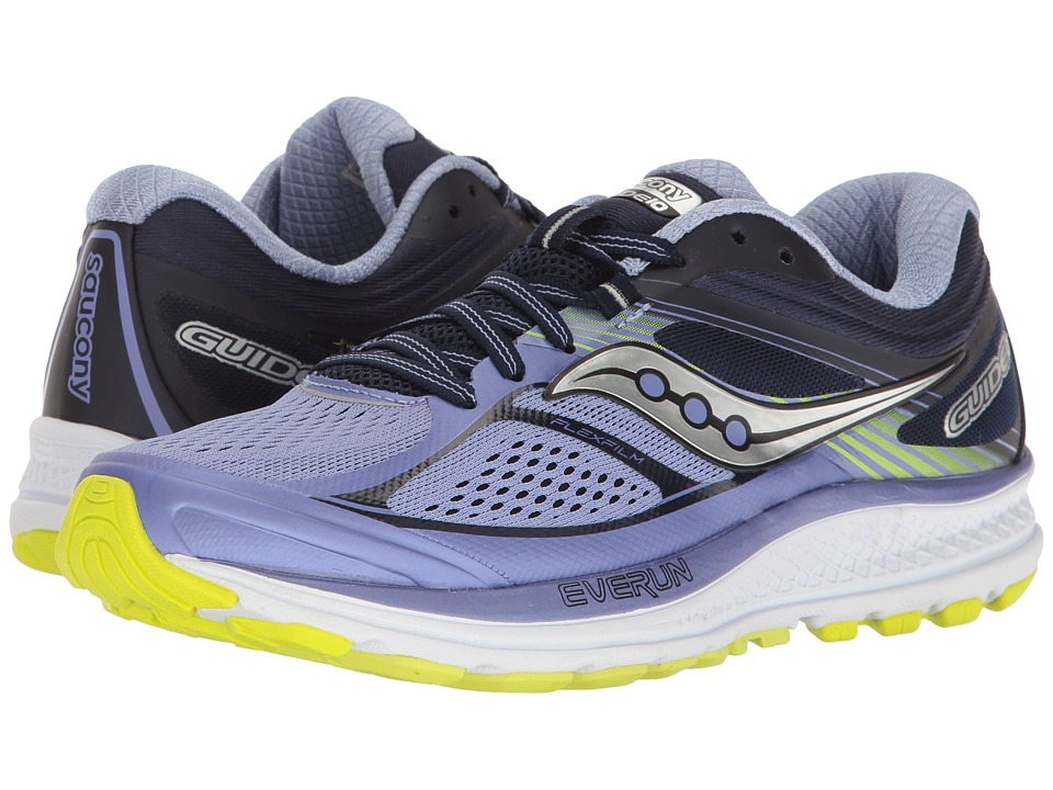 Saucony Guide 10 (Purple/Navy/Citron) Women