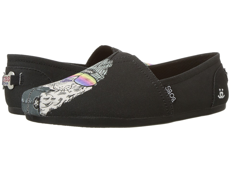 BOBS from SKECHERS - Bobs Plush - Outpaws (Black) Women's Flat Shoes
