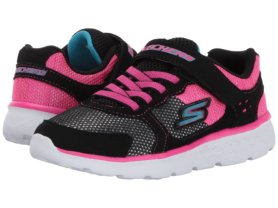 SKECHERS KIDS Go Run 400 (Little Kid/Big Kid) (Black/Hot Pink) Girl