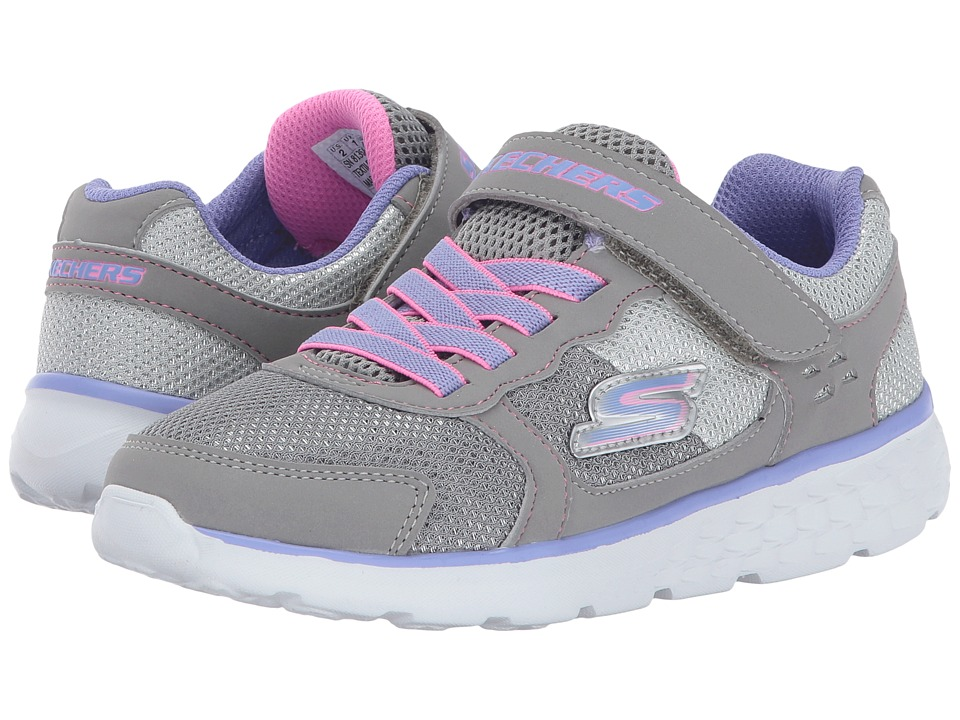SKECHERS KIDS Go Run 400 (Little Kid/Big Kid) (Grey/Lavendar) Girl