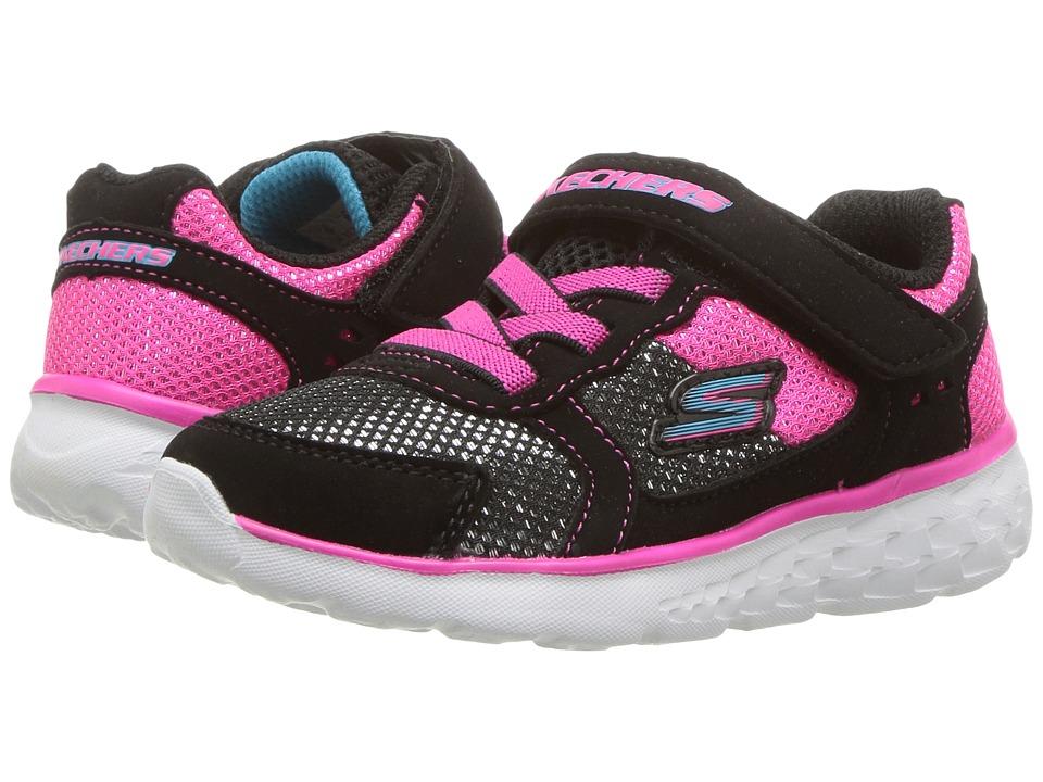 SKECHERS KIDS - Go Run 400 (Toddler) (Black/Hot Pink) Girl's Shoes