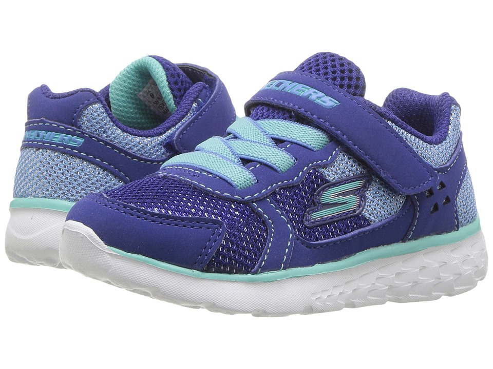 SKECHERS KIDS - Go Run 400 (Toddler) (Blue/Turquoise) Girl's Shoes