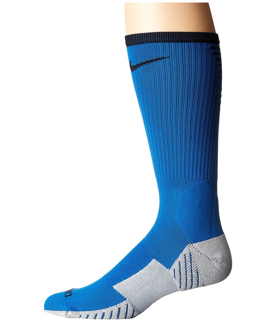 Nike Stadium Football Crew (Blue Jay/Black) Crew Cut Socks Shoes