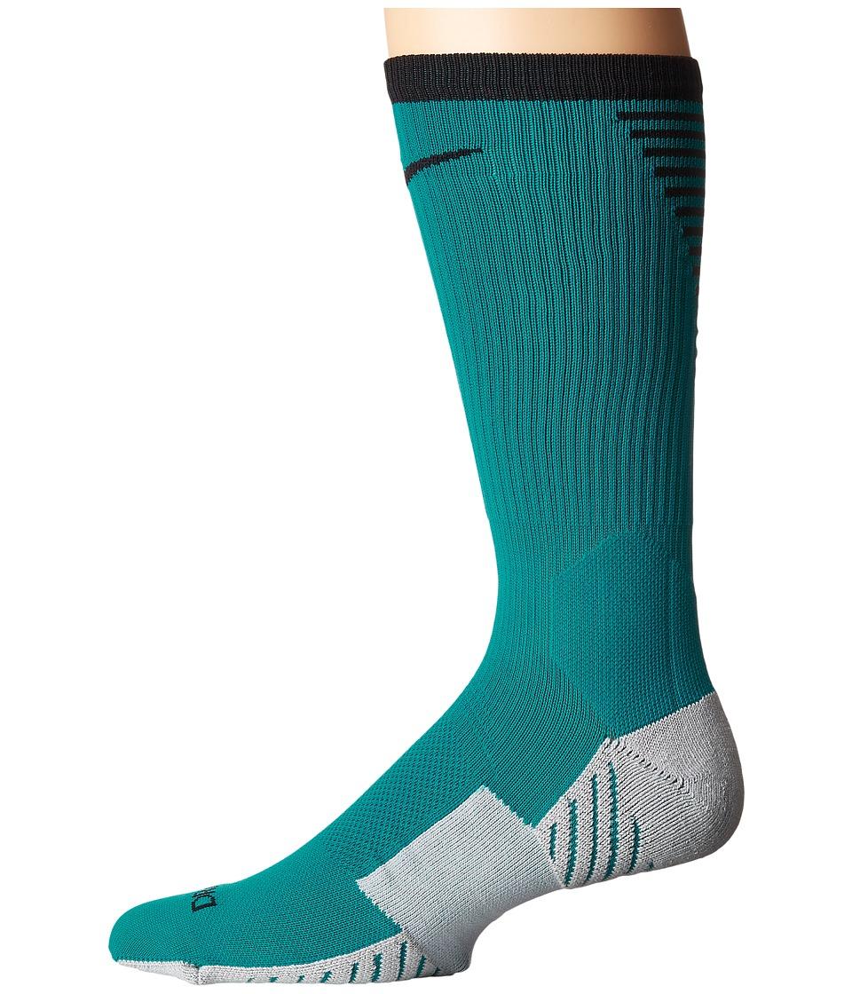 Nike Stadium Football Crew (Blustery/Black) Crew Cut Socks Shoes