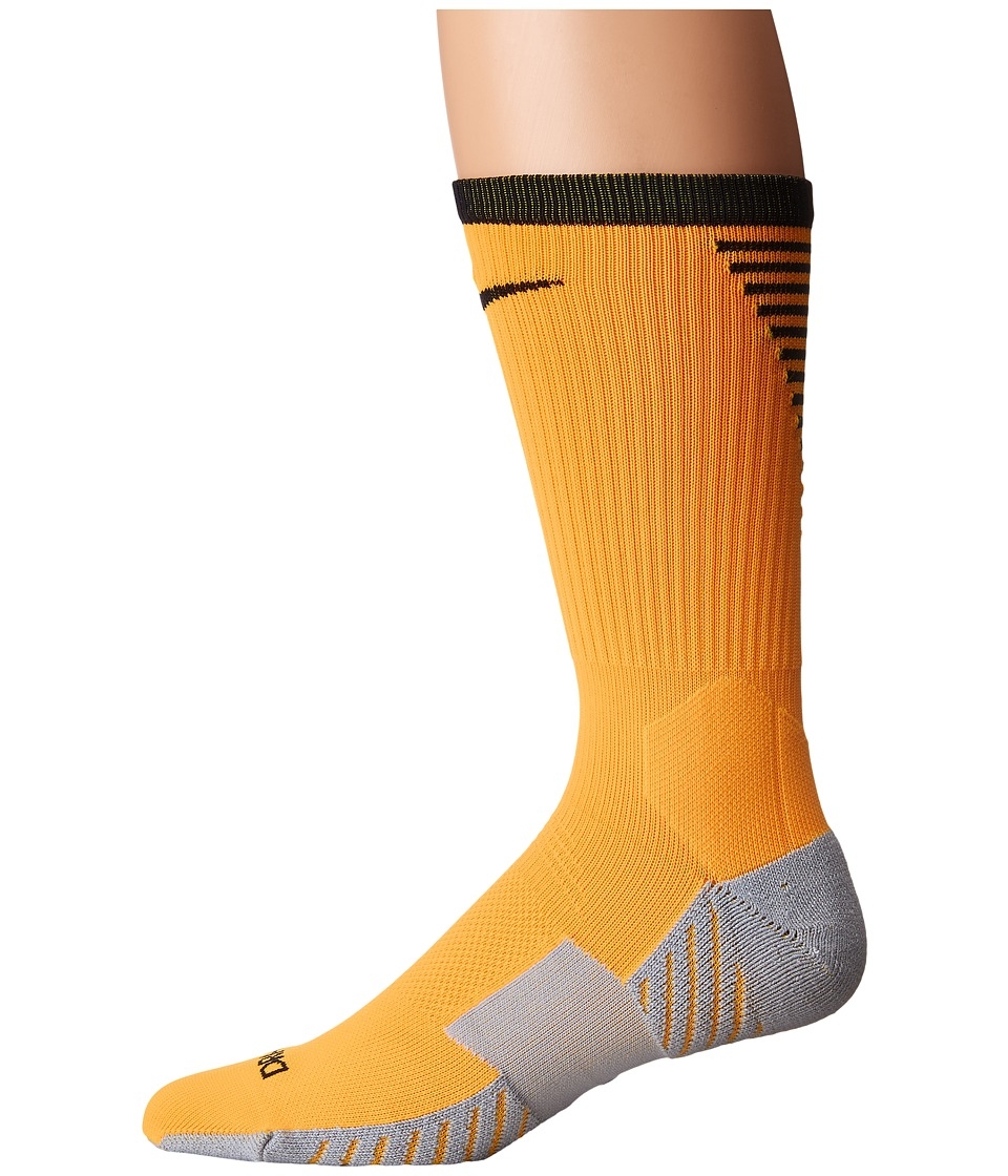 Nike Stadium Football Crew (Laser Orange/Black) Crew Cut Socks Shoes