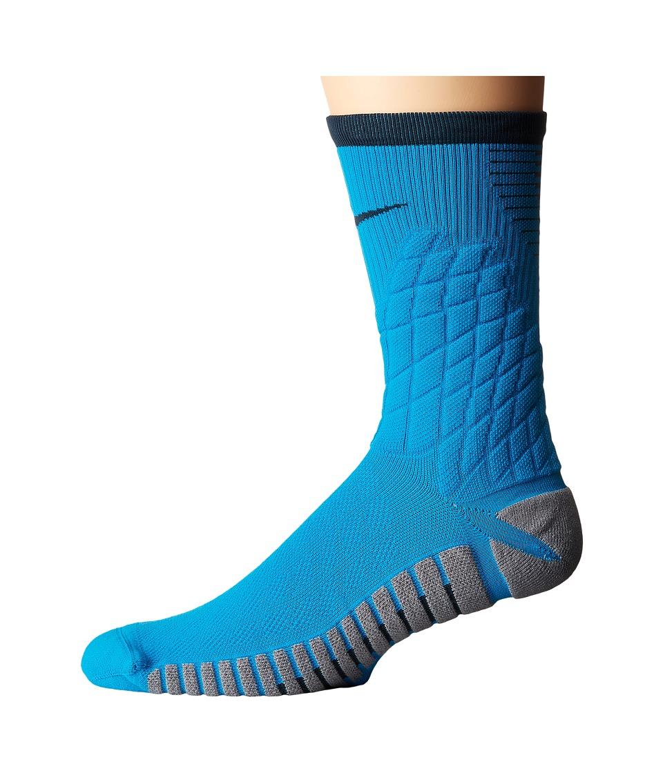 Nike Strike Hypervenom Crew Football Socks (Light Blue Lacquer/Cool Grey/Black) Crew Cut Socks Shoes