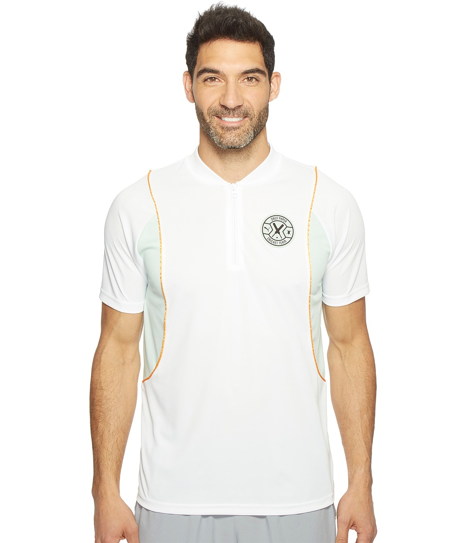 PUMA - PUMA X Daily Paper Polo (PUMA White) Men's Short Sleeve Pullover