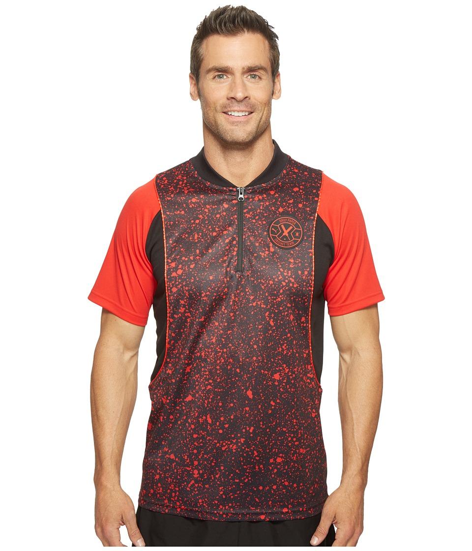 PUMA - PUMA X Daily Paper Polo (Puma Black AOP) Men's Short Sleeve Pullover