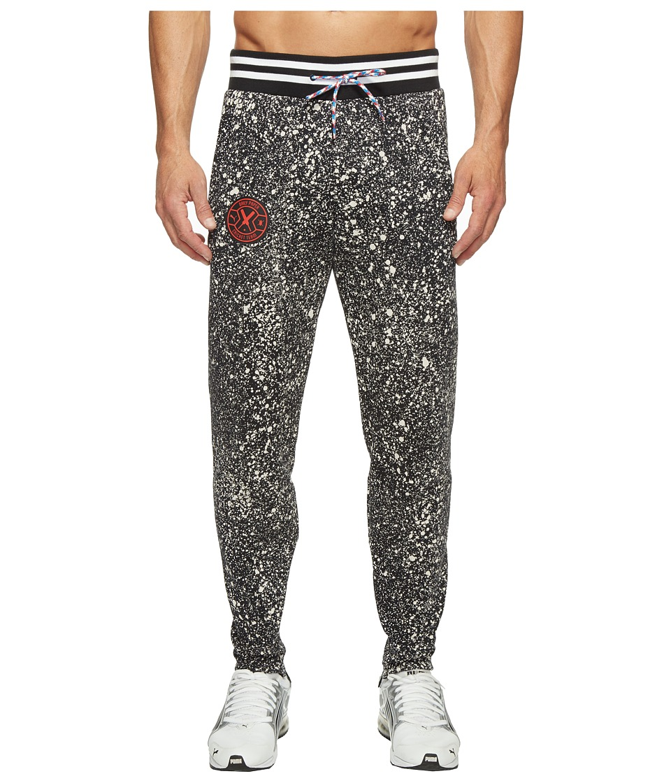 PUMA - PUMA X Daily Paper Knitted Chino Pants (Puma Black AOP) Men's Casual Pants