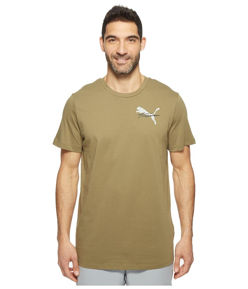 PUMA - PUMA X Trapstar Tee (Burnt Olive) Men's T Shirt