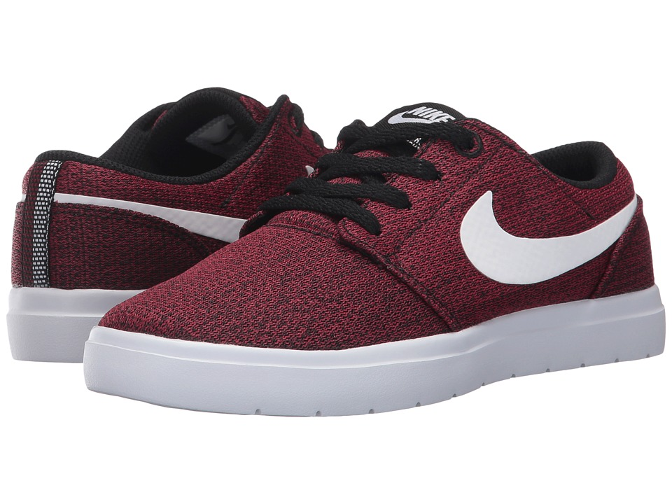Nike SB Kids - Portmore II Ultralight (Big Kid) (Black/White/Team Red) Boy's Shoes