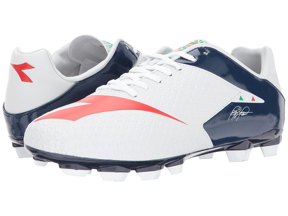 Diadora - MW-Tech RB R LPU (White/B.Night/F.Red) Soccer Shoes