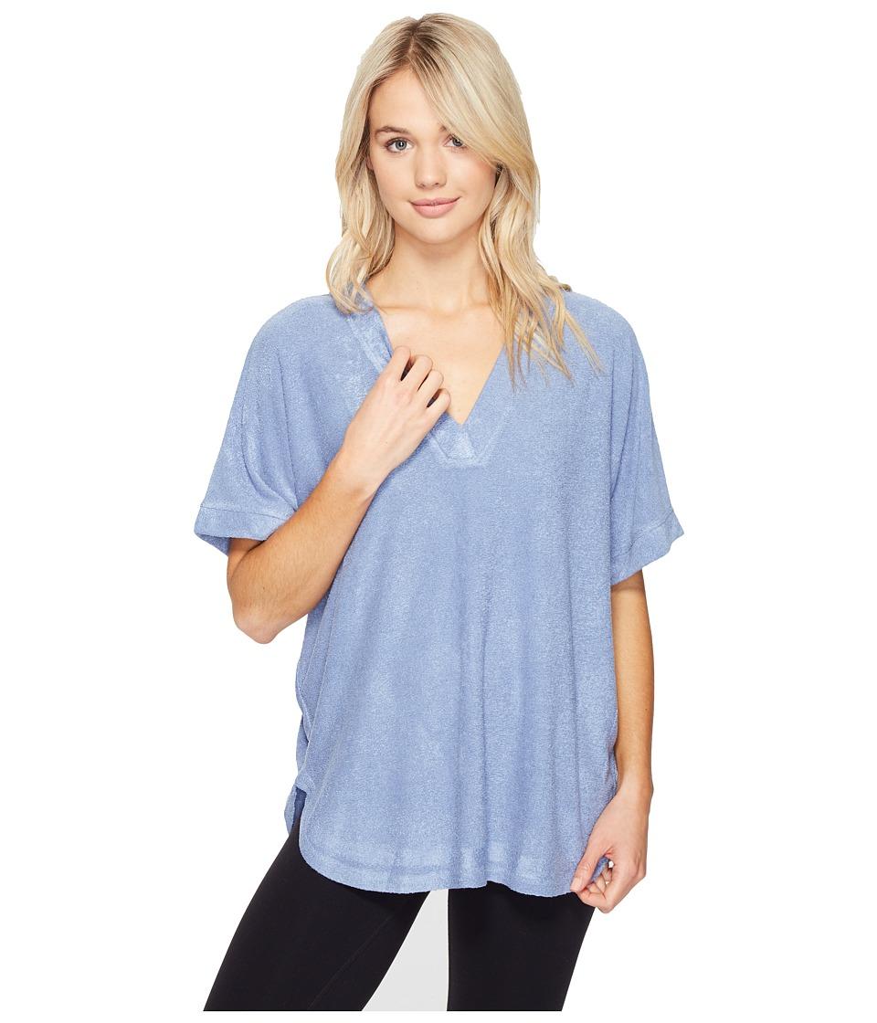 N by Natori - Terry Lounge Top (Smokey Blue) Women's Pajama