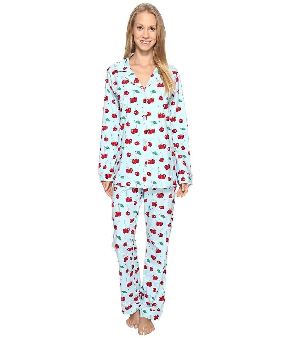 BedHead - Long Sleeve Classic Pajama Set (Cherry Hearts) Women's Pajama Sets