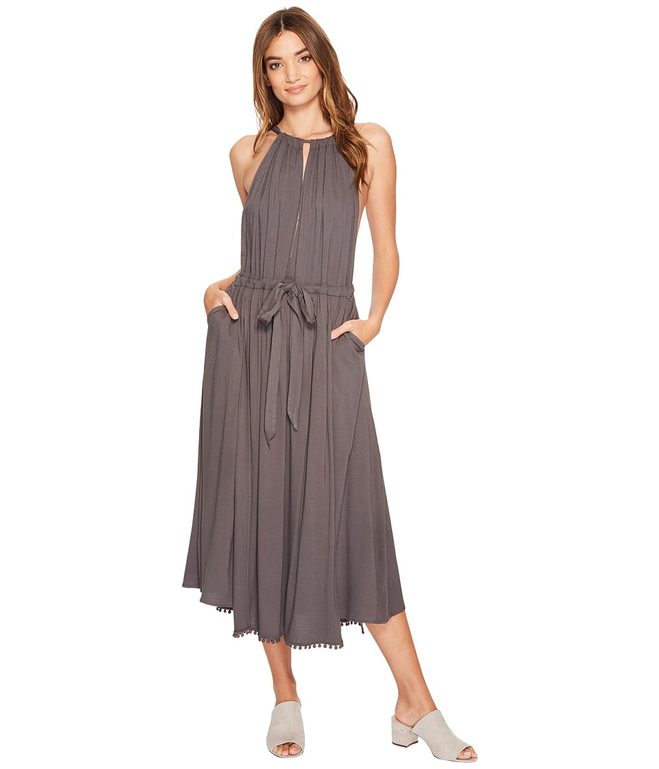 Free People - Spring Love Midi Dress (Carbon) Women's Dress
