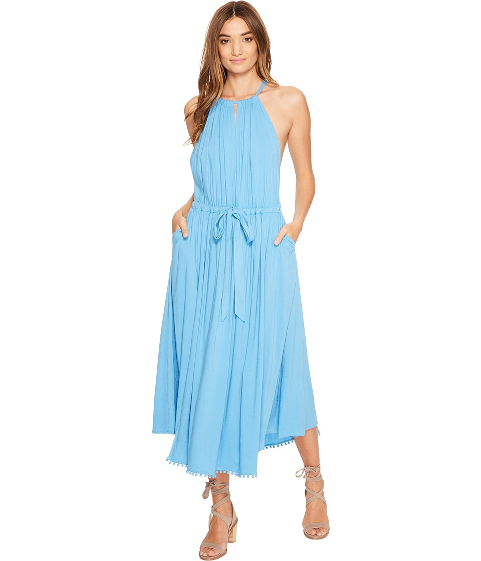 Free People - Spring Love Midi Dress (Blue) Women's Dress