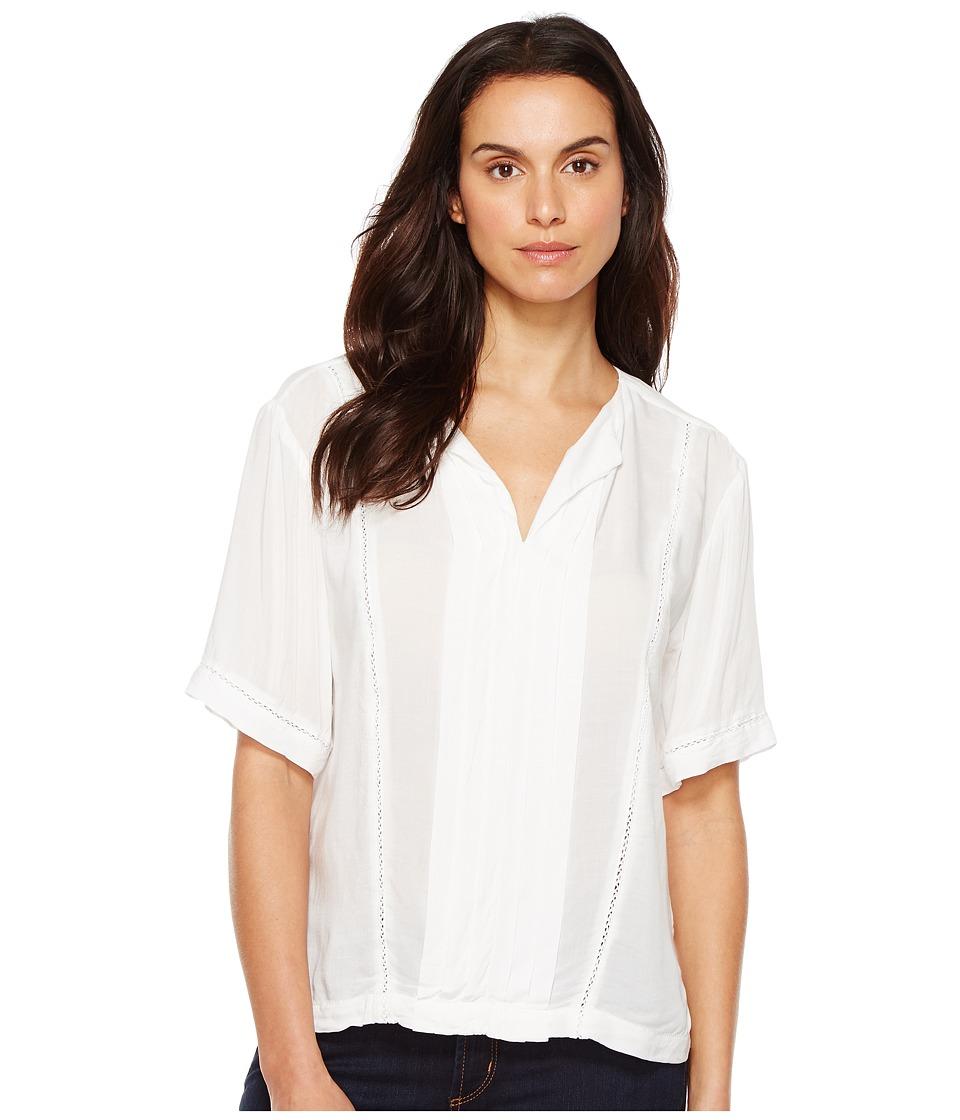 Calvin Klein Jeans - Lace Inset Blouse (Vanilla Ice) Women's Blouse