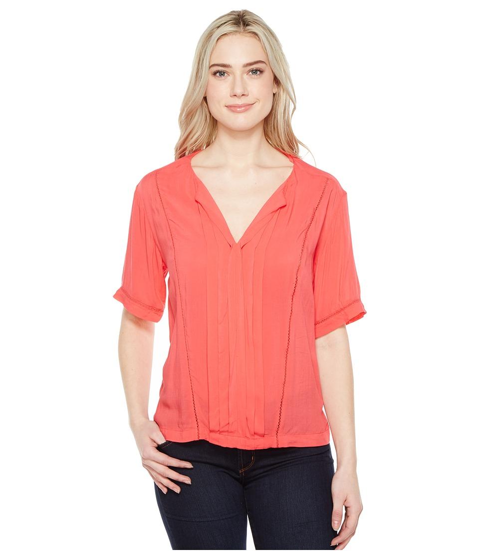 Calvin Klein Jeans - Lace Inset Blouse (Teaberry) Women's Blouse