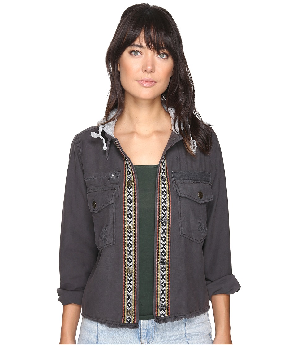 Free People - Weekend Wanderer Military Jacket (Black) Women's Coat