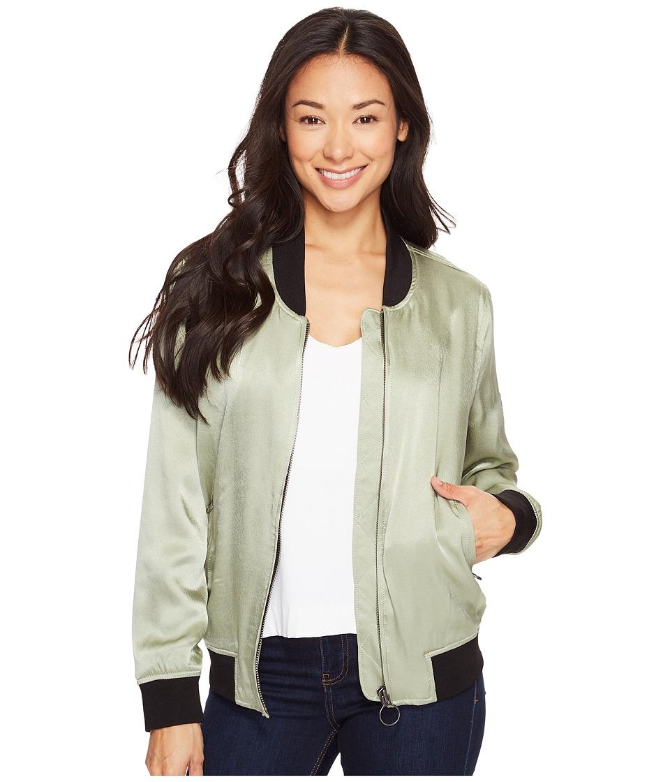 Calvin Klein Jeans - Solid Seduction Bomber (Sage) Women's Coat