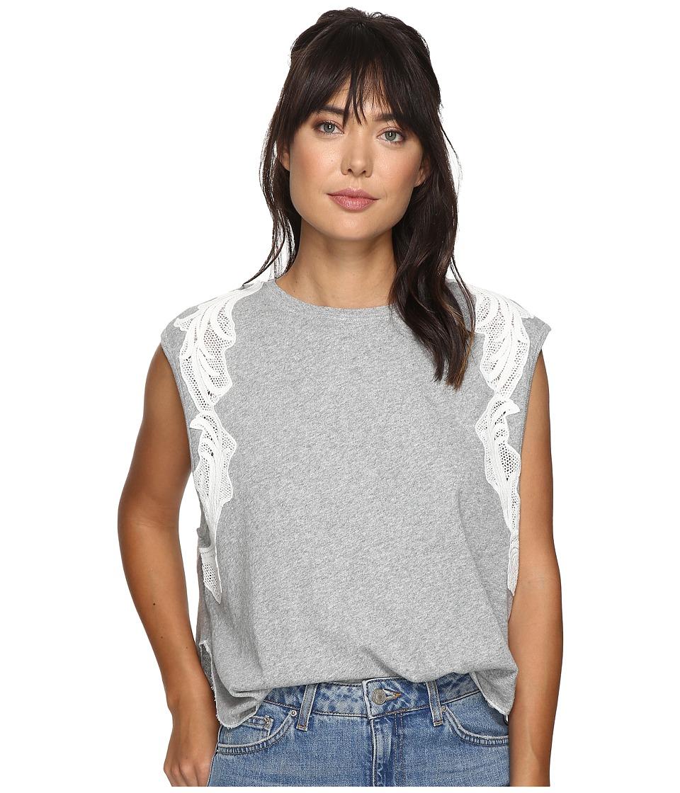 Free People - Bonsai Tee (Grey) Women's T Shirt