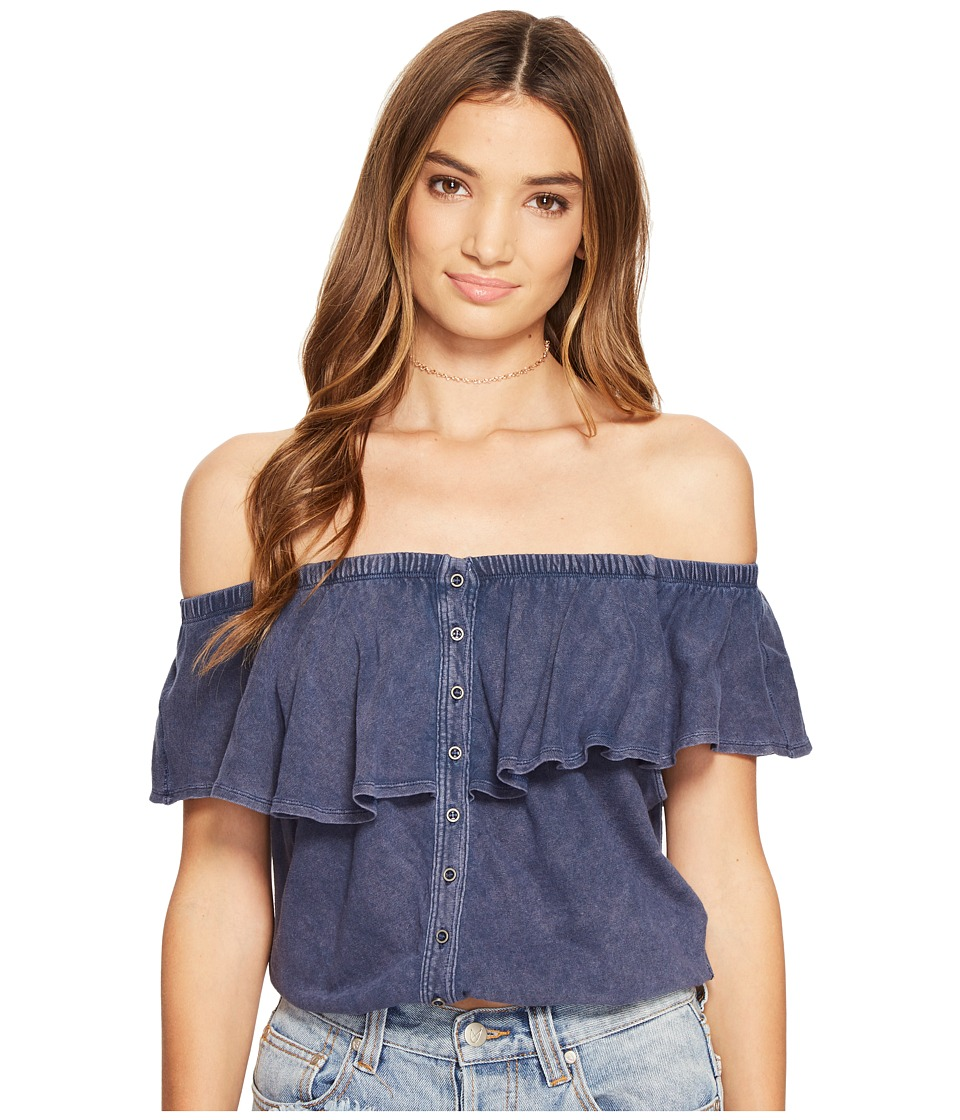 Free People - Love Letter Tube Top (Navy) Women's Sleeveless