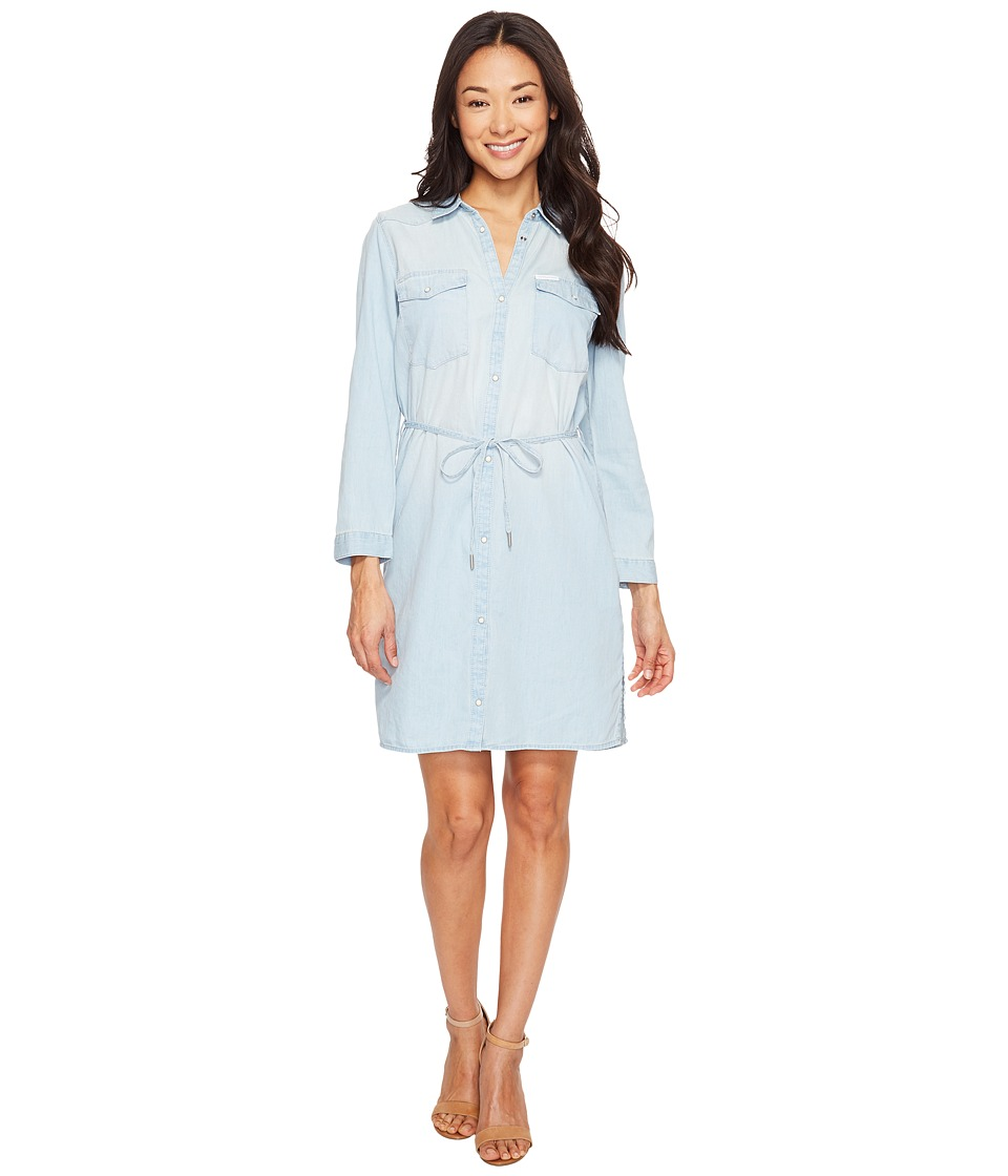 Calvin Klein Jeans - Denim Western Dress (Ryan Light) Women's Dress