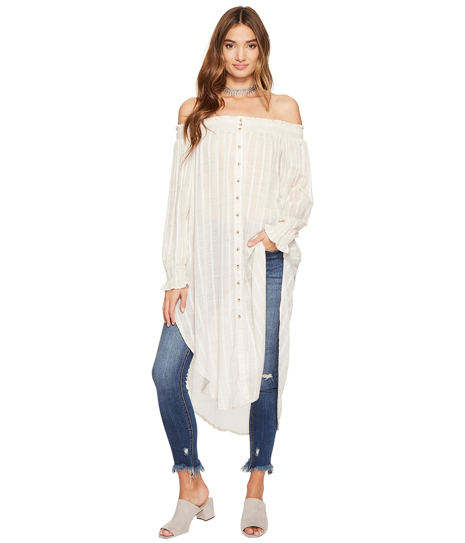 Free People - Wild Adventures Maxi Shirt (Natural) Women's Clothing