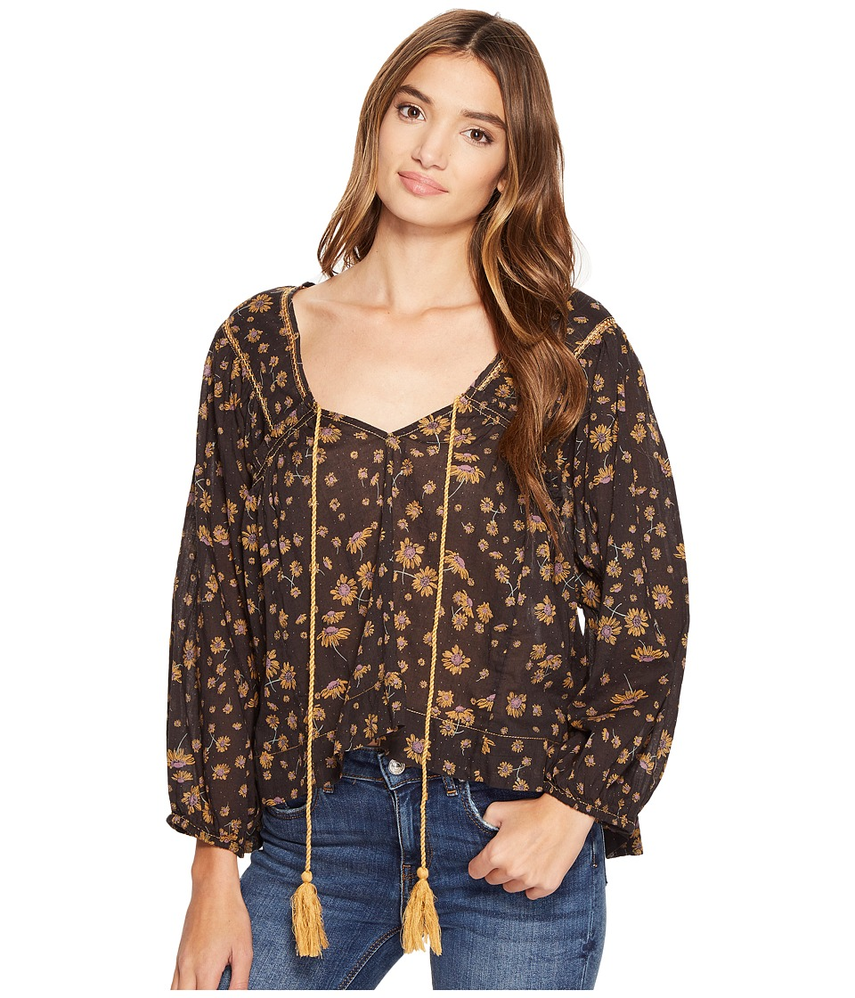 Free People - Never A Dull Moment Blouse (Black) Women's Clothing