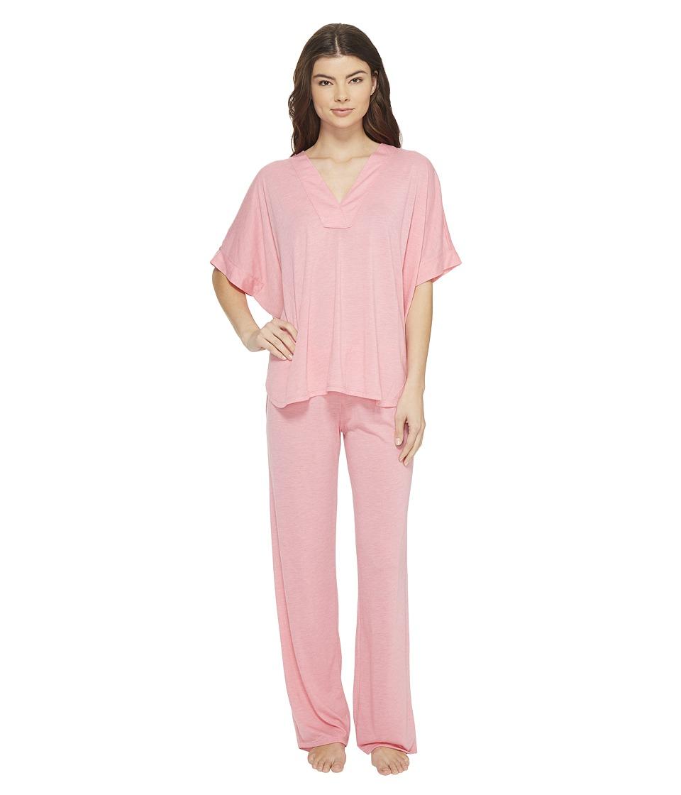 N by Natori - Congo PJ Set (Heather Pink Orchid) Women's Pajama Sets