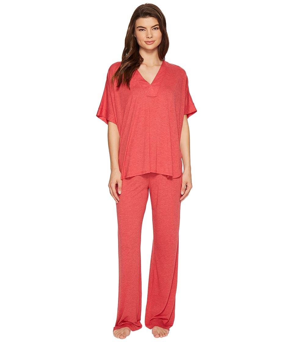 N by Natori - Congo PJ Set (Heather Medallion Red) Women's Pajama Sets