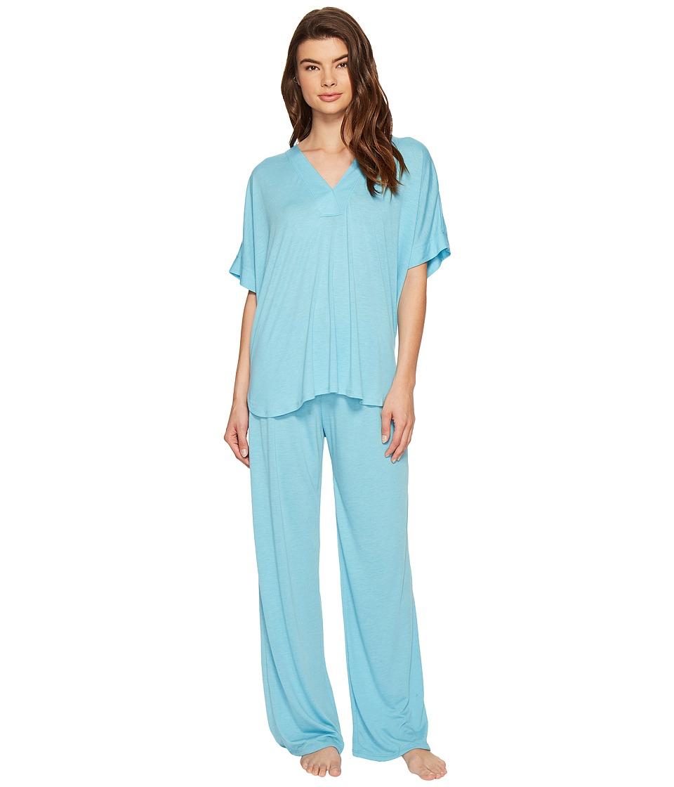 N by Natori - Congo PJ Set (Heather Sky) Women's Pajama Sets