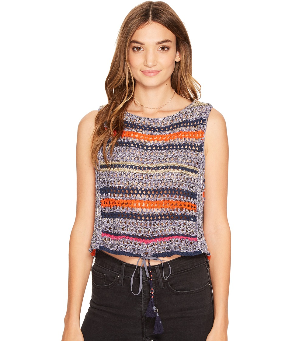 Free People - Step Outside Tank Top (Blue Combo) Women's Clothing