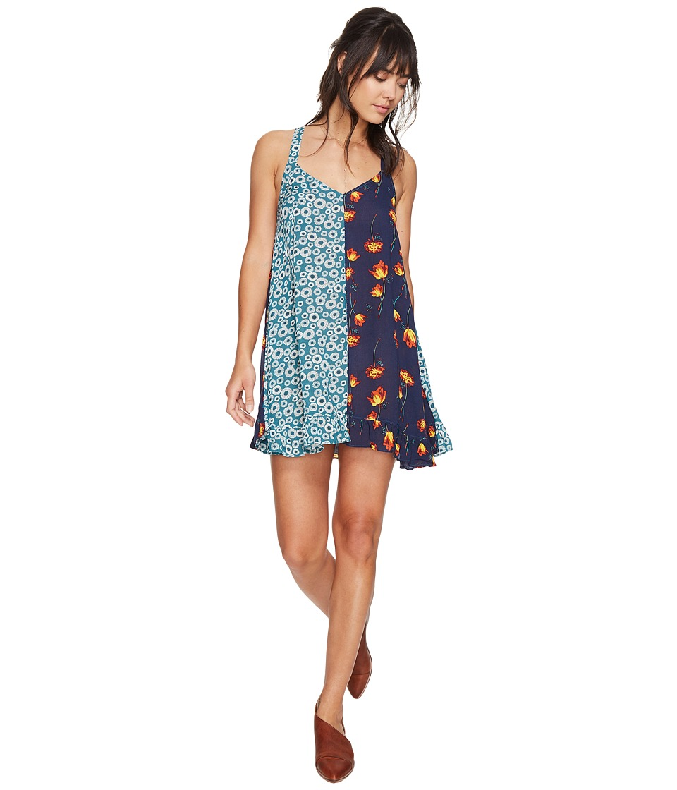 Free People - Back to Back Slip Top (Blue Combo) Women's Clothing