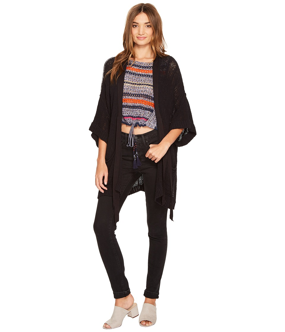 Free People - Beach House Brunch Cardi (Black) Women's Sweater