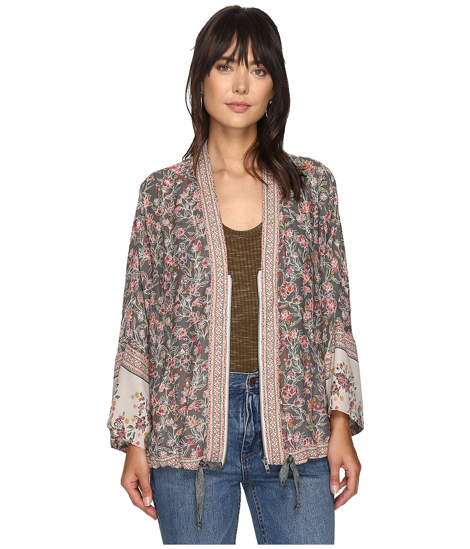 Free People - Wildflower Cinched Kimono (Grey) Women's Sweater