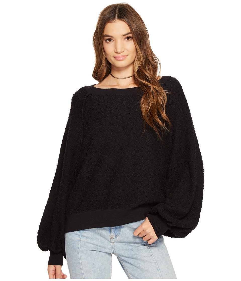 Free People - Found My Friend Sweatshirt (Black) Women's Sweatshirt