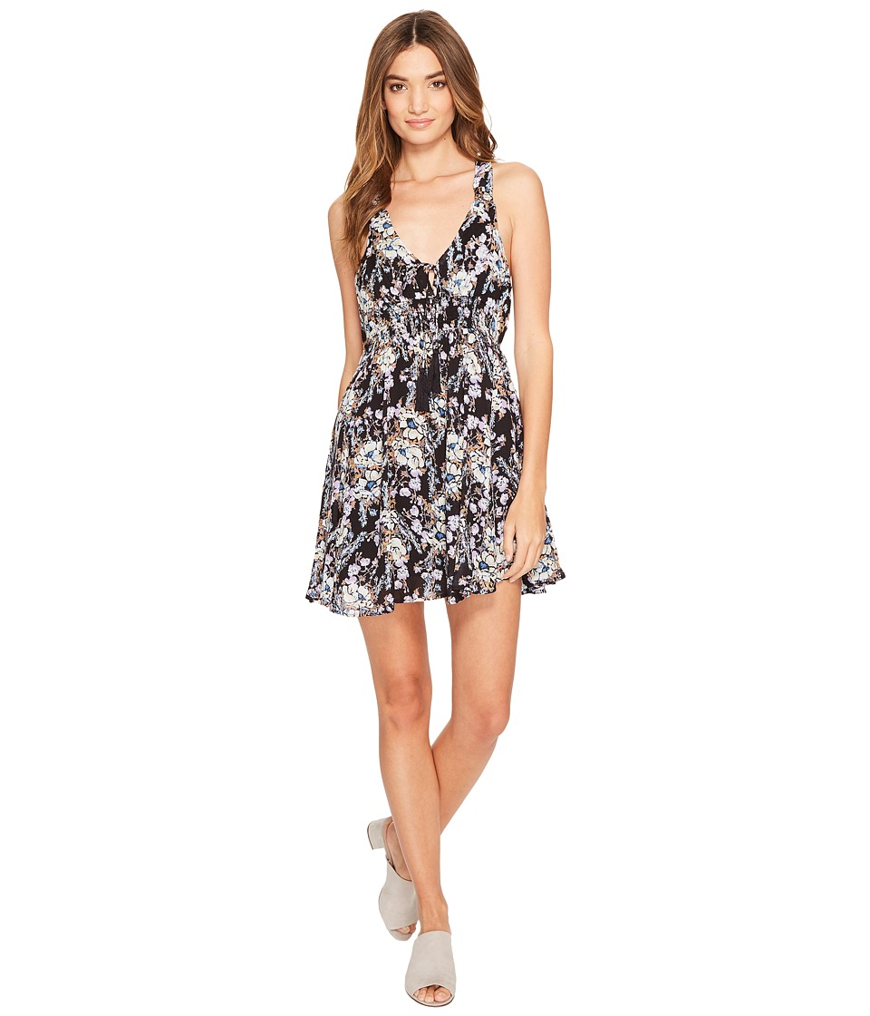 Free People - Washed Ashore Mini Dress (Black) Women's Dress